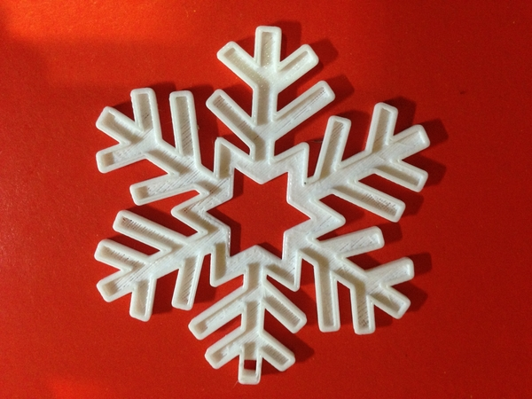 Medium Snowflake-Holiday ornaments 3D Printing 182664