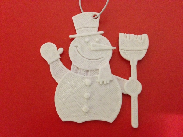 Medium Snowman-Holiday Ornaments 3D Printing 182668