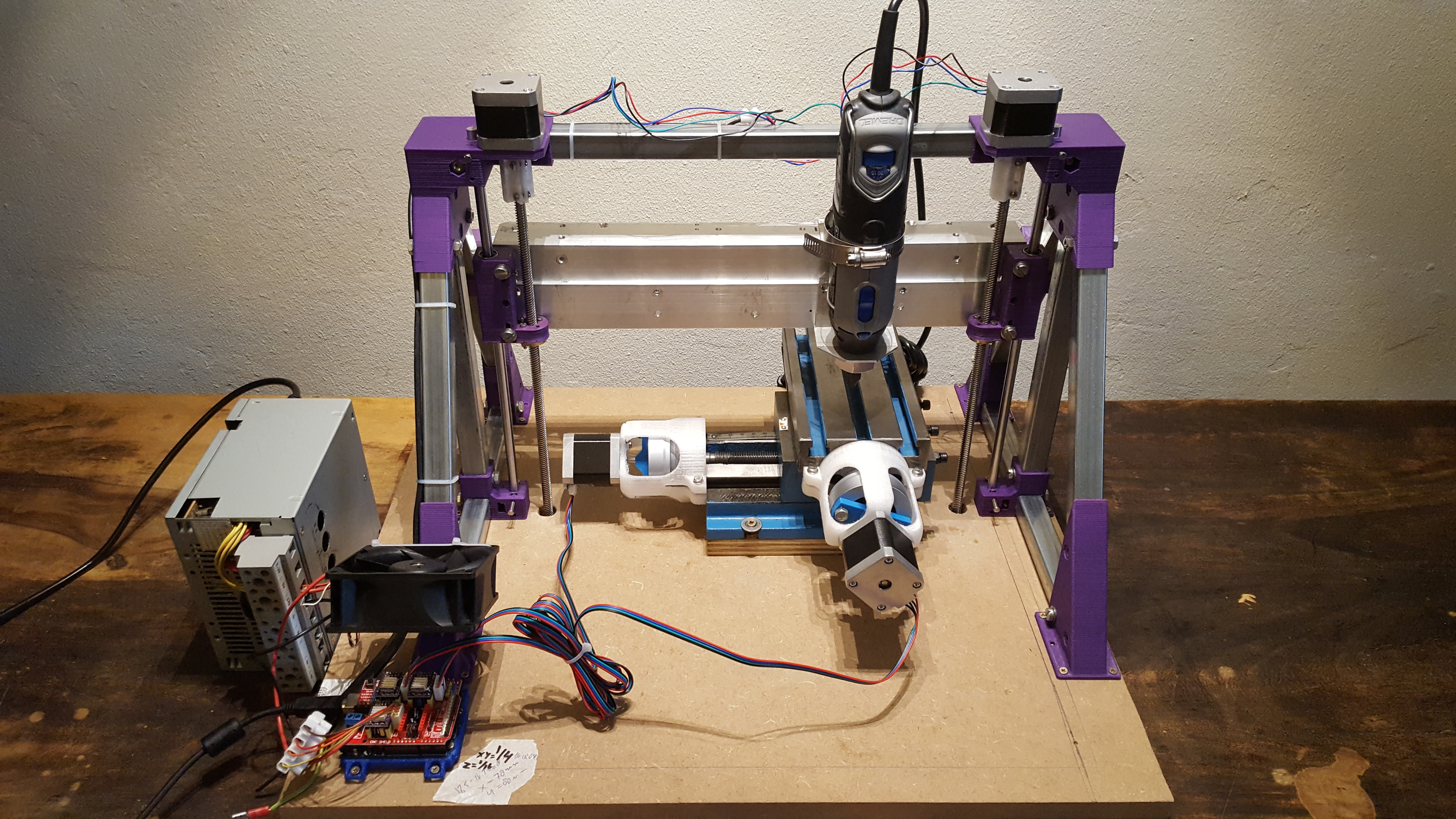 3D Printed Z axis for CNC mini mill by jobsmolders | Pinshape
