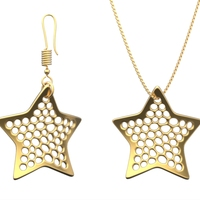 Small Earring and Necklace star Type 2 3D Printing 18270