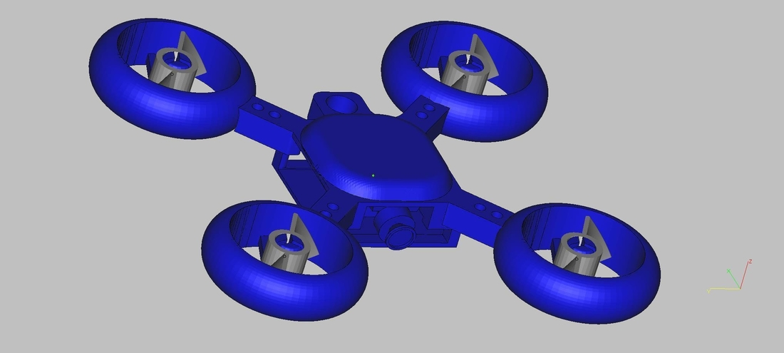 drone keychain 3D Print 182711
