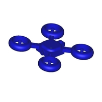 Small drone keychain 3D Printing 182713