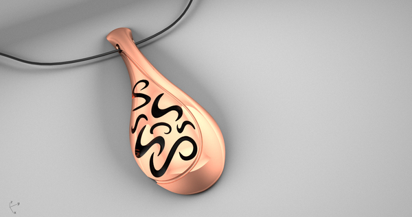 Medium Pendant Long  3D Printing 18277