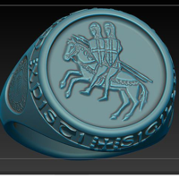 Small Templar seal ring  3D Printing 182810