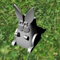 Small easter rabbit 3D Printing 182827