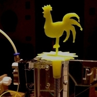 Small a cockerel for our 3d printer - un galletto per la nostra stampa 3D Printing 182979