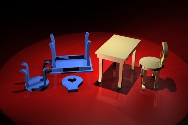 doll furniture 3D Print 183016
