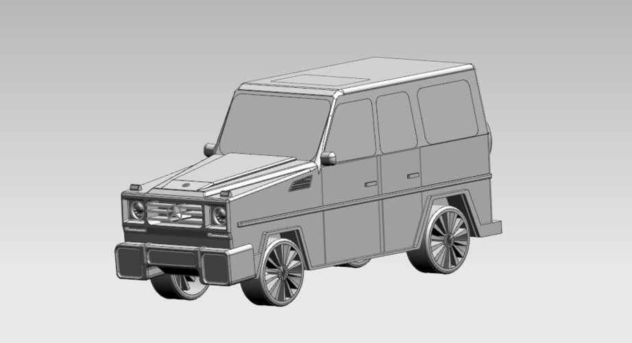 Mercedes-Benz G-Class (FIRST CLASS MODEL CAR) 3D Print 183181