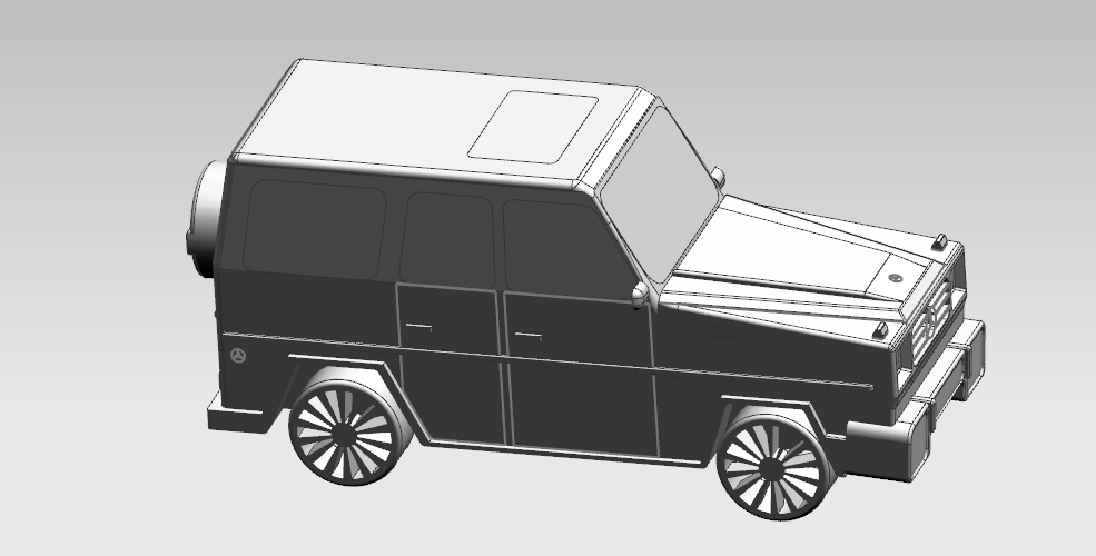 Mercedes-Benz G-Class (FIRST CLASS MODEL CAR) 3D Print 183182