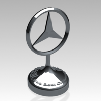 Small Mercedes-Benz Decoration Amblem (HIGH-QUALITY) 3D Printing 183263