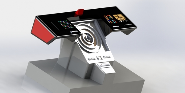 Medium Star Trek Console 3D Printing 183428