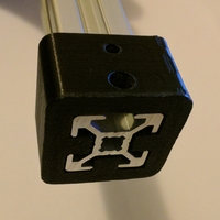 Small 2020 bracket with M3 and M5 hole 3D Printing 183441
