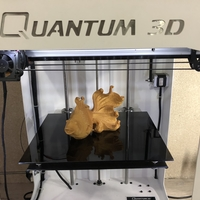 Small Golden Fish 3D Printing 183535