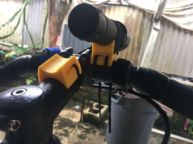 Bicycle Flashlight Mount 3D Print 183670