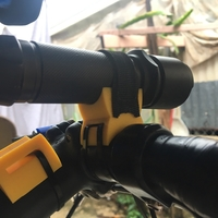 Small Bicycle Flashlight Mount 3D Printing 183671