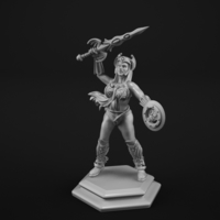 Small Warrior princess 3D Printing 183692