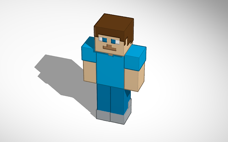 3d Printed Minecraft Steve Updated By Danchigai Pinshape