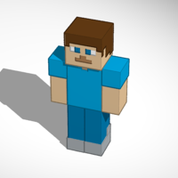 Small Minecraft Steve [Updated] 3D Printing 183699