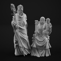 Small Holy family 3D print model 3D Printing 183765