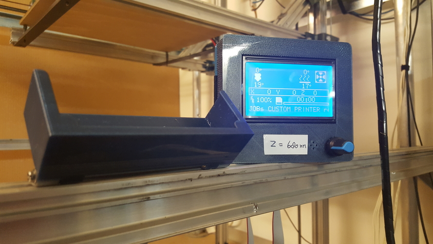 Case for the Full Graphic Smart LCD Controller Holder 3D Print 183789
