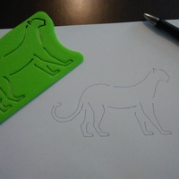 Small Tiger coloring 3D Printing 183814