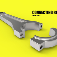 Small CONNECTING ROD CAR ENGINE COMPONENTS 3D Printing 183846