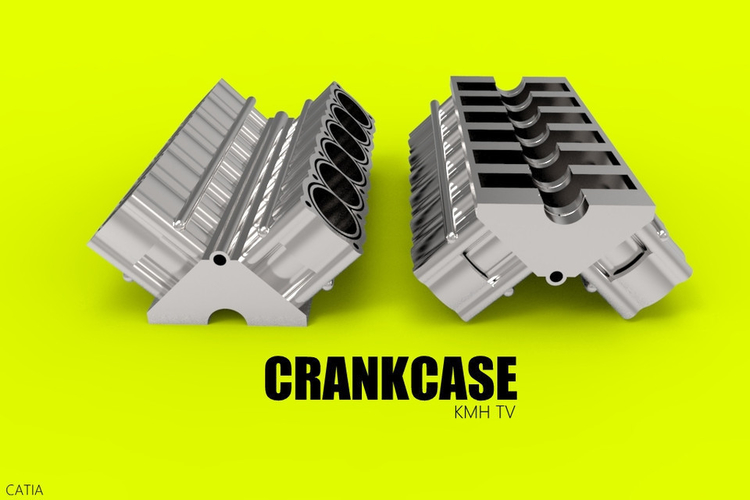 CRANKASE CAR ENGINE COMPONENT 3D Print 183847