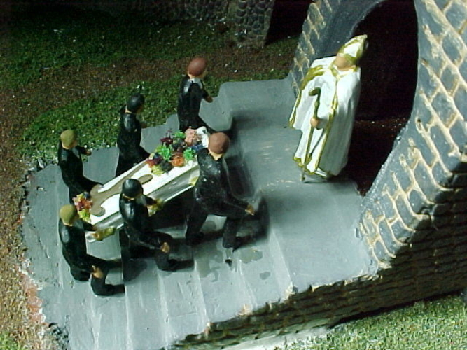 SCALEPRINT PALLBEARERS AND CASKET 00 HO SCALE 3D Print 183871