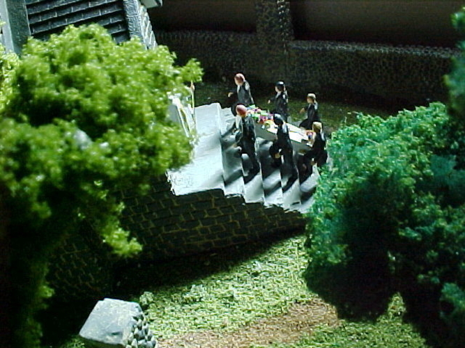SCALEPRINT PALLBEARERS AND CASKET 00 HO SCALE 3D Print 183872