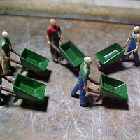 Small SCALEPRINT WHEELBARROW AND WHEELBARROW MAN 00 HO SCALE 3D Printing 183873
