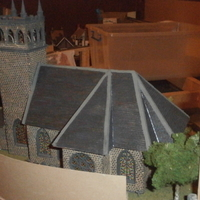 Small SCALEPRINT St Trinians Church part 1 windows castleations door f 3D Printing 183888