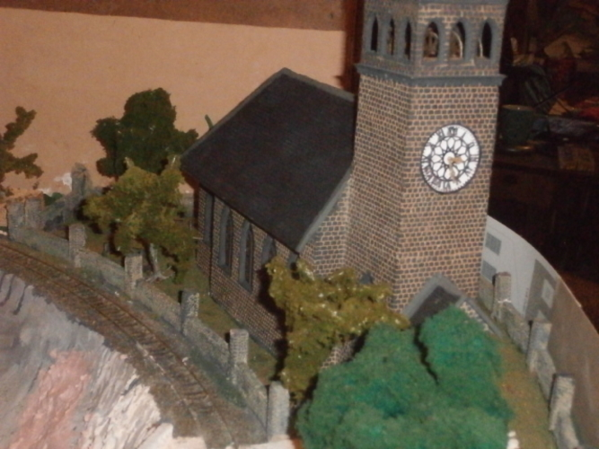 SCALEPRINT St Trinians Church part 1 windows castleations door f 3D Print 183889
