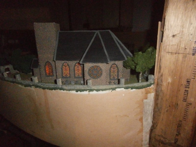 SCALEPRINT St Trinians Church part 1 windows castleations door f 3D Print 183890