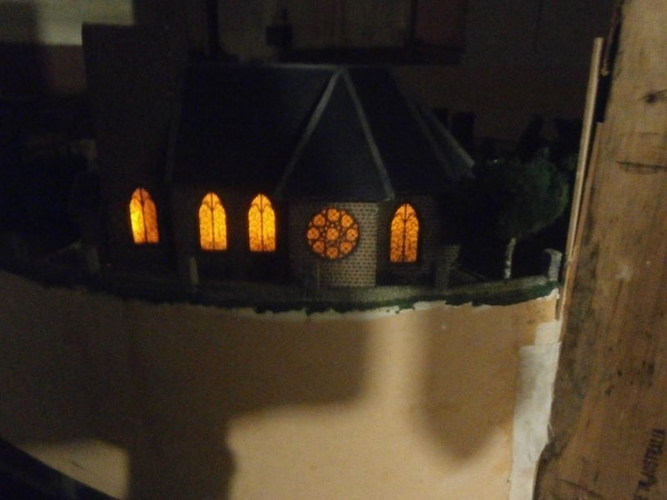 SCALEPRINT St Trinians Church part 1 windows castleations door f 3D Print 183892