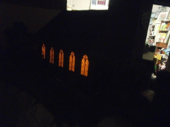 SCALEPRINT St Trinians Church part 1 windows castleations door f 3D Print 183893