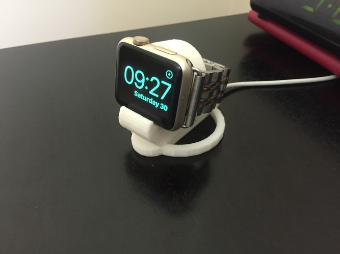 Apple Watch 38 & 42mm charging bedside clock stand 3D Print 183905