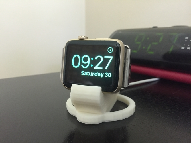 Apple Watch 38 & 42mm charging bedside clock stand 3D Print 183907
