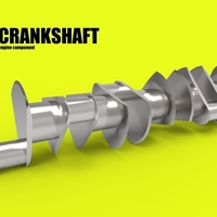 Small CRANKSHAFT CAR ENGINE COMPONENT 3D Printing 183926