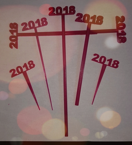 2018 New Years Party Picks and Swizzle Sticks 3D Print 183954