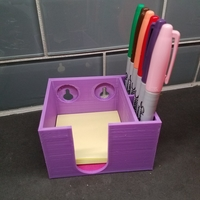 Small Post-it Box and Pen Holder with and without Screw Holes 3D Printing 184153