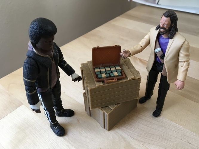 Briefcase Full of Cash (1:18 scale) 3D Print 184211