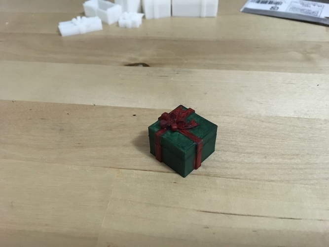 Holiday Present Box (1:18 scale) 3D Print 184216