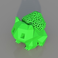 Small Low Poly Voronoi Hybrid Bulbasaur 3D Printing 184224