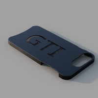 Small Iphone 7/8 Plus GTI Phone Case 3D Printing 184231