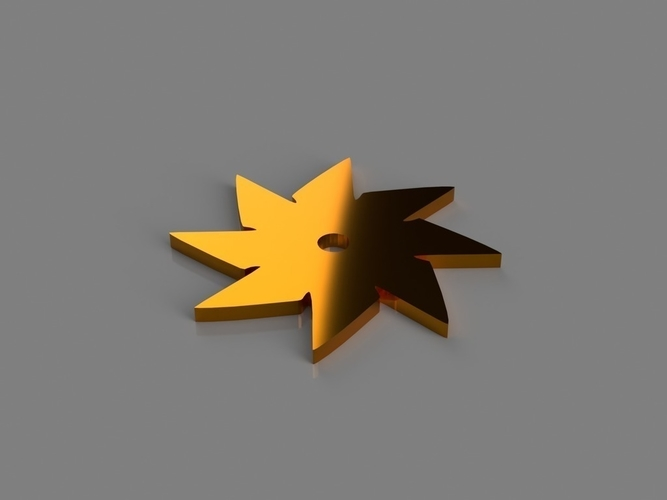 8 Point Throwing Star 3D Print 184239