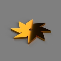 Small 8 Point Throwing Star 3D Printing 184239