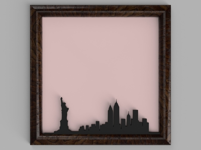 New York City Skyline 3D Print 184241