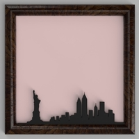 Small New York City Skyline 3D Printing 184241