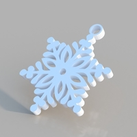 Small Snowflake Ornament 3D Printing 184243