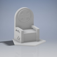 Small Mountain Throne 3D Printing 184267